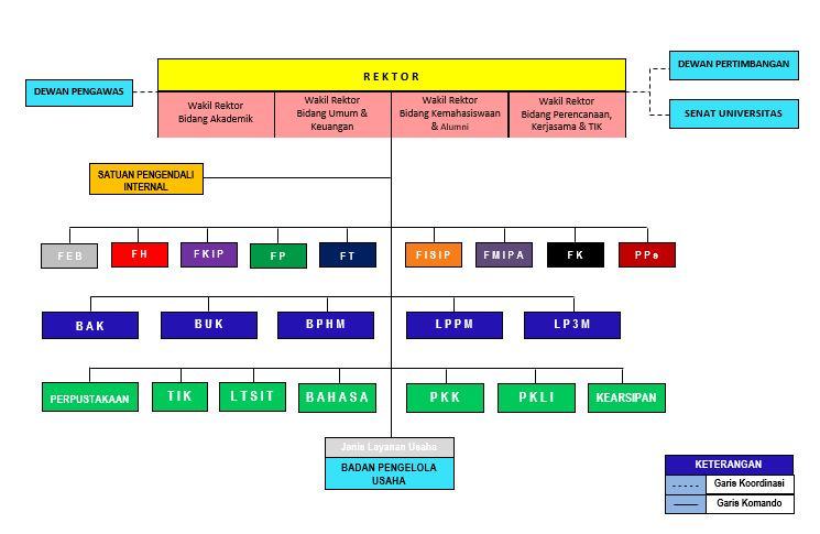 struktur organisasi universitas lampung Bagan Organisasi Pt. Ifatama Jaya Kreasi struktur organisasi
