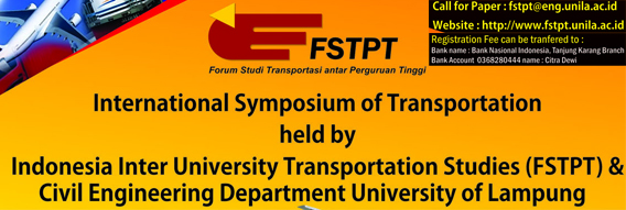 Indonesia Inter University Transportation Studies (FSPT) 2015