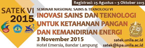 Seminar Nasional Sains & Teknologi VI
