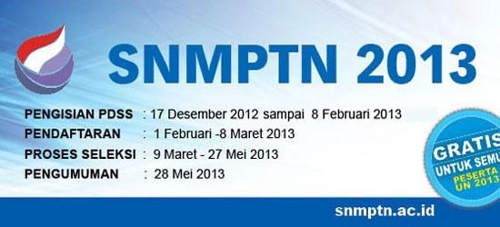 Jadwal-SNMPTN-2013