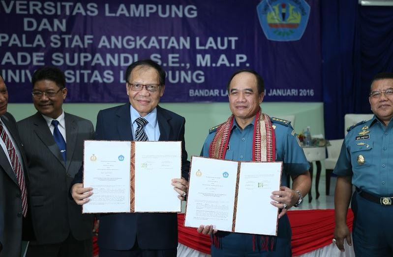Unila-TNI AL Perkuat Kerja Sama Melalui MoU 3