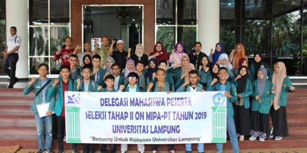 27 Mahasiswa Unila Ikuti Seleksi Tingkat Wilayah ON MIPA PT 2019 (3)