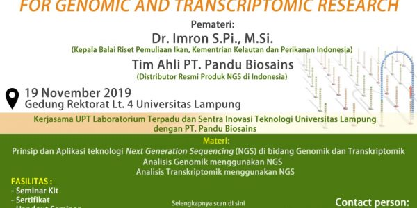 Seminar Next Generation Seqeuencing for Genomic and Transcript Research (2)